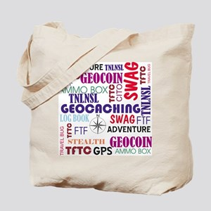 Geocaching Words Tote Bag