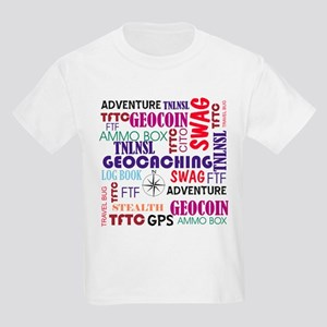 Geocaching Words Kids Light T-Shirt