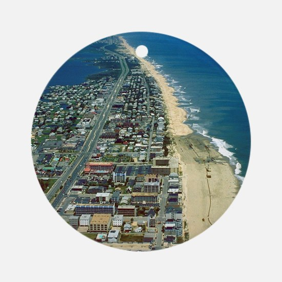 Aerial View of Ocean City Marylan Ornament (Round)