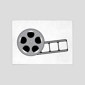Film Reel 5'x7'Area Rug