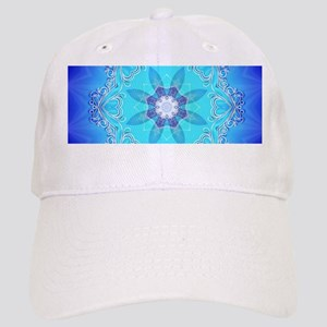 Awesome blue kaleidoskop Baseball Cap