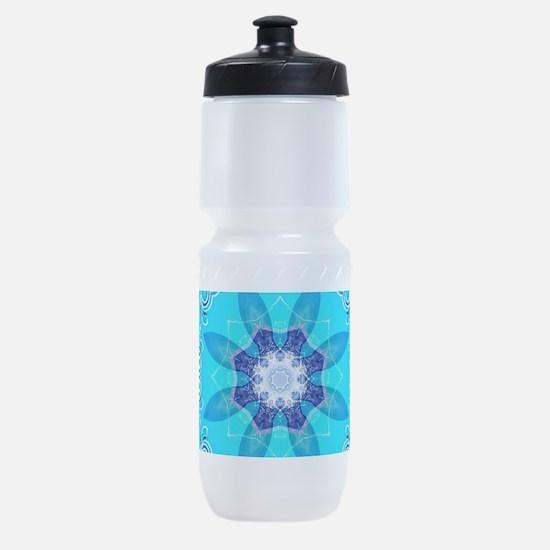 Awesome blue kaleidoskop Sports Bottle