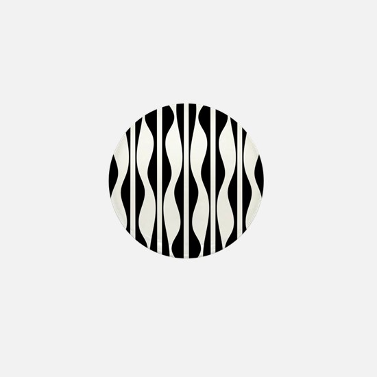 Wavy Stripes Mini Button