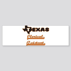 Texas Clerical Assistant Bumper Sticker