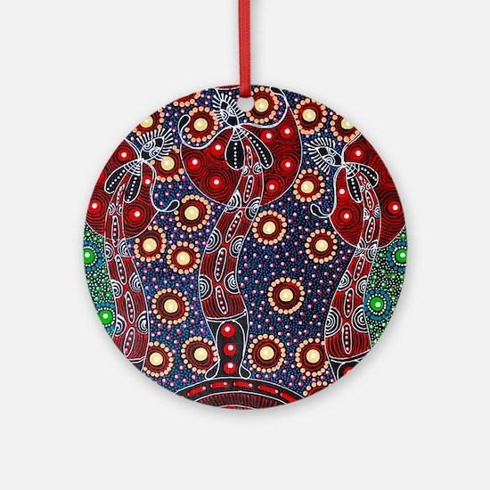 Australian ABORIGINAL ART 4 Round Ornament