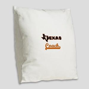 Texas Coach Burlap Throw Pillow