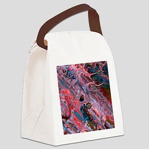 Double Fractal Canvas Lunch Bag