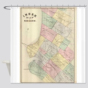 Vintage Map of Oakland California ( Shower Curtain