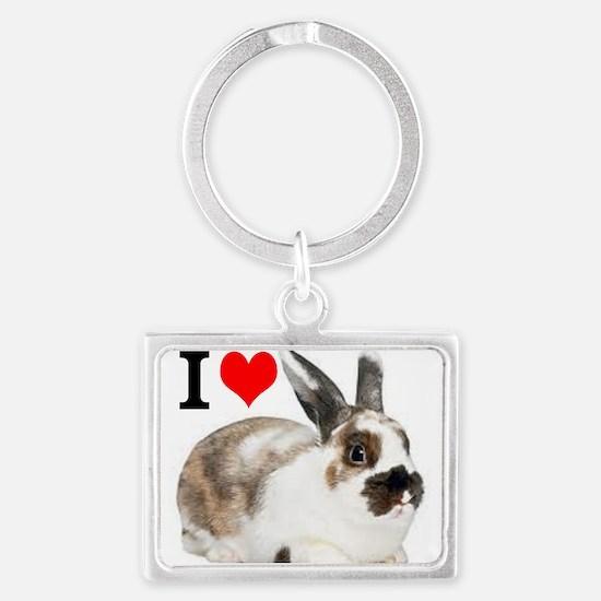 I heart Rabbits Keychains
