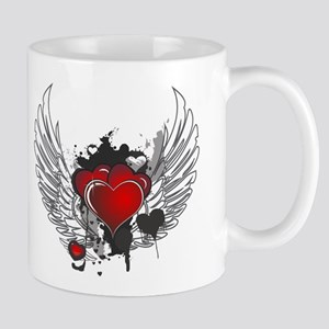 Winged hearts Mugs