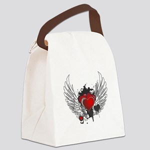 Winged hearts Canvas Lunch Bag