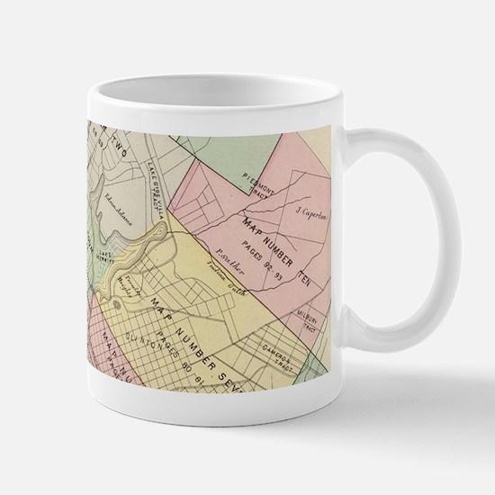 Vintage Map of Oakland California (1878) Mugs