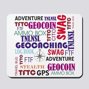 Geocaching Words Mousepad