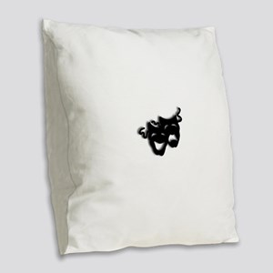 Comedy and Tragedy Theater Mas Burlap Throw Pillow
