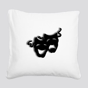 Comedy and Tragedy Theater Ma Square Canvas Pillow