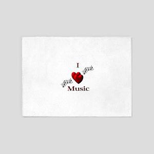 I Heart Music 5'x7'Area Rug