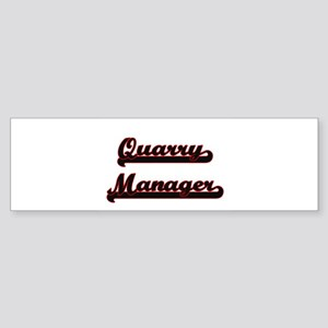 Quarry Manager Classic Job Design Bumper Sticker