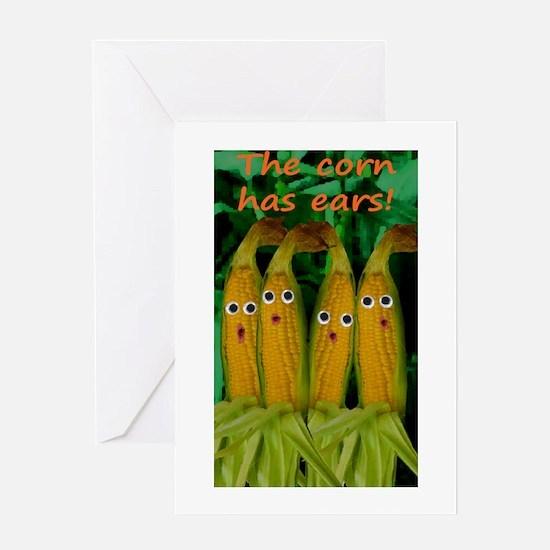 The corn has ears! Greeting Card