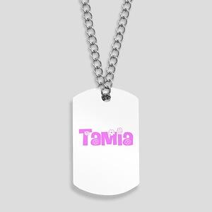 Tamia Flower Design Dog Tags
