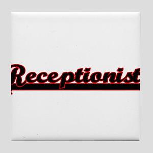 Receptionist Classic Job Design Tile Coaster
