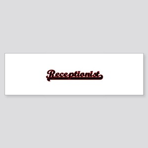 Receptionist Classic Job Design Bumper Sticker