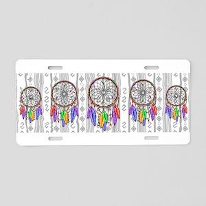 Dreamcatcher Rainbow Feathe Aluminum License Plate