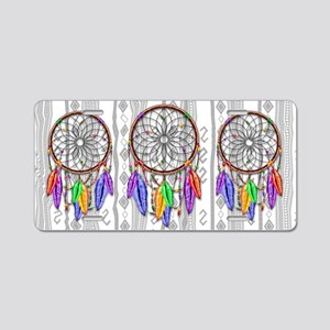 Dreamcatcher Rainbow Feathe Aluminum License Plate