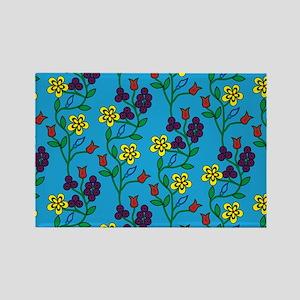 Ojibwe Flowers Rectangle Magnet