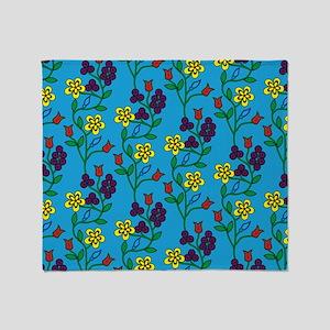 Ojibwe Flowers Throw Blanket