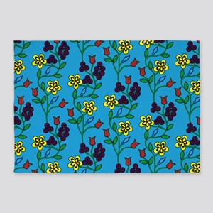 Ojibwe Flowers 5'x7'Area Rug