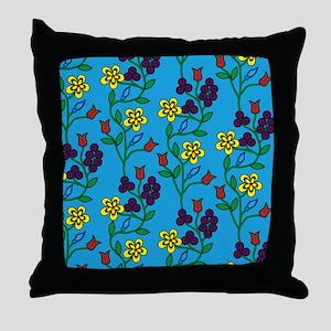Ojibwe Flowers Throw Pillow