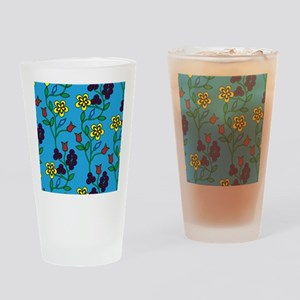 Ojibwe Flowers Drinking Glass