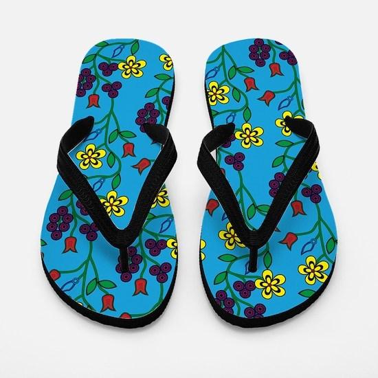 Ojibwe Flowers Flip Flops