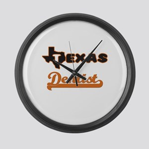 Texas Dentist Large Wall Clock