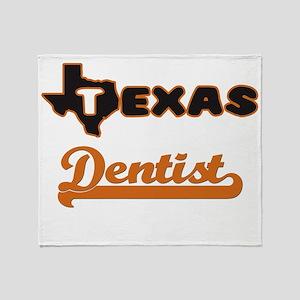 Texas Dentist Throw Blanket