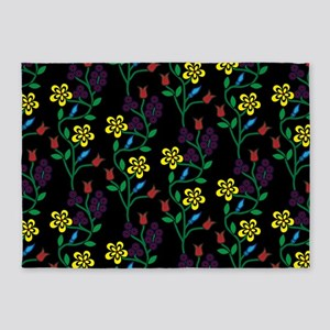 Ojibwe Flowers 5'x7'Area Rug