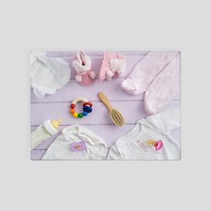 Baby utensils 5'x7'Area Rug