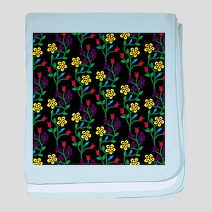 Ojibwe Flowers baby blanket
