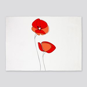 Poppies 5'x7'Area Rug
