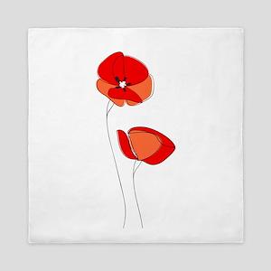 Poppies Queen Duvet