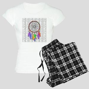 Dreamcatcher Rainbow Feathe Women's Light Pajamas
