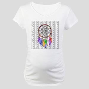 Dreamcatcher Rainbow Feathers Maternity T-Shirt