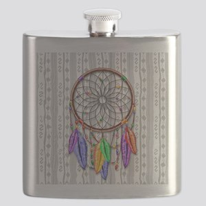 Dreamcatcher Rainbow Feathers Flask