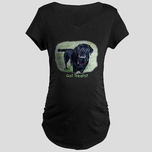 Got Treats? Lab Maternity Dark T-Shirt