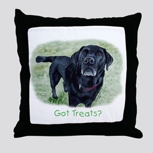 Got Treats? Lab Throw Pillow