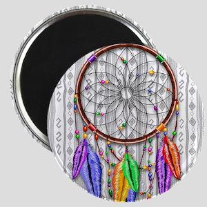 Dreamcatcher Rainbow Feathers Magnets