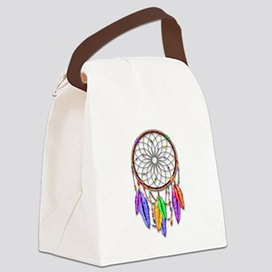 Dreamcatcher Rainbow Feathers Canvas Lunch Bag