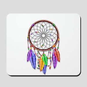 Dreamcatcher Rainbow Feathers Mousepad