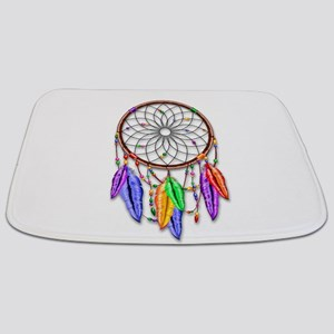 Dreamcatcher Rainbow Feathers Bathmat