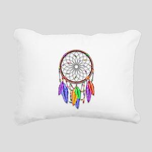 Dreamcatcher Rainbow Fea Rectangular Canvas Pillow